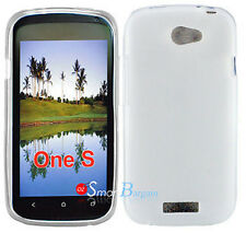 New Premium WHITE Soft Gel TPU Cover Case For HTC One S + Screen Protector
