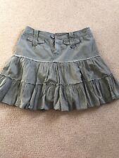 Khaki Cotton Mini Skirt By Babes Coture Size 12