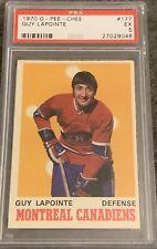 1970 1971 OPC Guy Lapointe PSA 5 ROOKIE RC #177 CANADIENS HABS HOF MINT