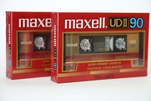 2x Maxell UD II 90 Audiokassetten, OVP, Tape, Compact Cassette,  Jahrgang 85-86