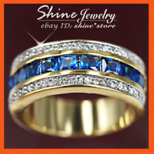 Sapphire Gold Filled Fashion Rings