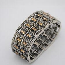 Lia sophia jewelry Kiam Family vintage silver tone bracelet cut crystals bangle