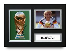 Rudi Voller Signed A4 Photo Display Germany World Cup Autograph Memorabilia +COA