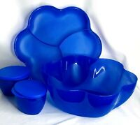 Tupperware Chip 'N Dip Salad Punch Serving Bowl with Tray & Dip Containers