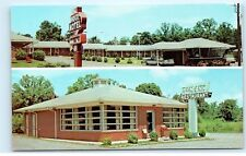 1950s Adco Motel Tom-Ann Restaurant Chatsworth Georgia old Vintage postcard A84