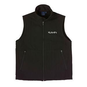 Kubota Branded Light Weight Polyester Black Softshell Vest