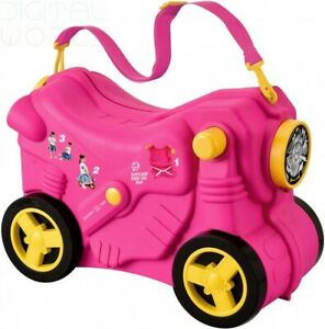 Macallen Children Suitcase Ride on Luggage for Baby Girls and Boys Pink