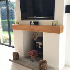 Oak Mantle Beam Fireplace - Lintel Floating Shelf Mantelpiece Wooden Shelf