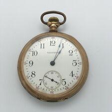 REPAIR 1915 Waltham Grade No. 610 Open Face Pocket Watch 16s 7J 10k Gold Filled