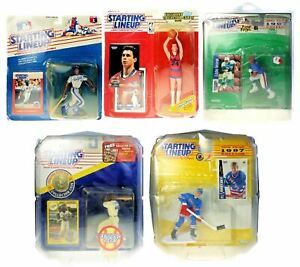 Starting Lineup Action Figure Lot of 5 Gretzky Strawberry Gugliotta George NIP