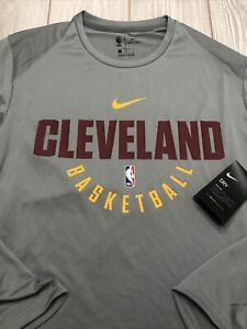 New Nike Men's Cleveland Cavaliers NBA Long Sleeve Shirt Size Large Tall Gray