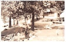 Coloma Wisconsin WI Pleasant Lake Boat Cottage Real Photo RP Postcard