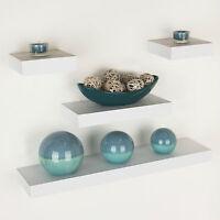 Floating Wall Shelf Wood Effect Shelving Shelves Unit Kit Display Home Office