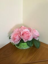 Pink Silk Roses Arrangement Centerpiece/Silk Floral Arrangement/Mother's Day