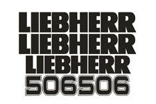 """LiebHerr Vinyl Decal Sticker 6.0/"""" x 1.0/"""" logo black with yellow background 3M"""