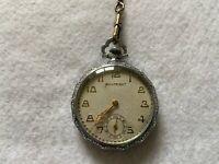 Builtright Mechanical Wind Up Vintage Pocket Watch