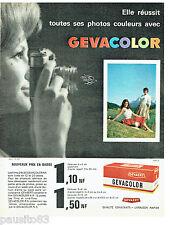 PUBLICITE ADVERTISING 056  1962  les  films Gevacolor Agfa