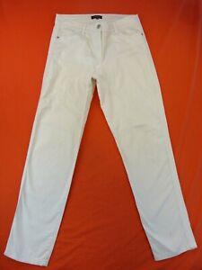 CAROLL Pantalon Femme Taille 40 Fr - Stretch - Blanc - Taille Haute