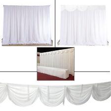 White Backdrop Curtains Swag Glaçon Silk Wedding Event Decoration Photography W/
