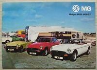 MG CAR RANGE Sales Brochure March 1978 #3264/B  MGB - Midget - MGB GT