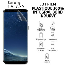 Lot Film Protection Ecran Plastique 3D Intégral Samsung Galaxy S9 S8 S7 S6 NOTE8