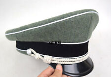 WWII German Officer Wool Hat&Cap W White Pipe Silver Chin Cord W Hat badge 60cm