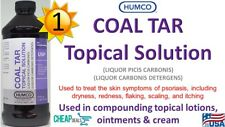Humco Coal Tar Topical Solution 20% Compounding 16 oz Pharma Grade Exp. 10/2021