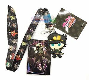 **Legit** JoJo's Bizarre Adventure Group Badge Holder Authentic Lanyard #37763