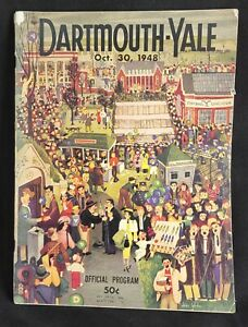 DARTMOUTH VS YALE OCTOBER 30 1948 OFFICIAL PROGRAM CHESTERFIELD RHEINGOLD AD