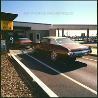 EARLY 1970S SHELL GAS STATION CAR WASH OAKLAND ORIG MEDIUM FORMAT COLOR NEGATIVE