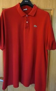 Lacoste Polo Shirt Gr.9 (3xl/4xl) rot
