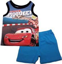 Disney Cars Piston Cup Vest Short Sleeve Pyjama Set  - Spring Summer Collection