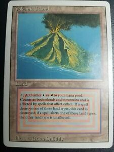 Magic The Gathering Revised Volcanic Island