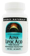 Source Naturals Alpha Lipoic Acid Timed Release 300 mg 60 Tablets Antioxidaant