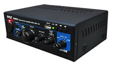 New Pyle PTAU23 Mini 2x40 Watt Stereo Power Amplifier w/ USB/AUX Inputs Home Aud