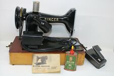 Vintage 50's Singer 99k Electric Sewing Machine W/ Foot Control & Case