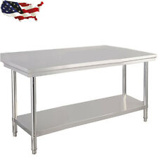 "30""x 48"" Stainless Steel Kitchen Work Food Prep Table Coffee Studio Commercial"