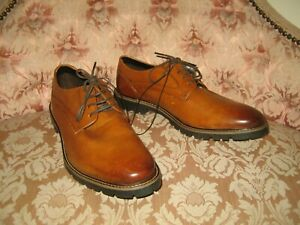 M&S Mens Leather Dark Tan Derby Shoes UK 9.5  EUR 43.5 - New with Tags