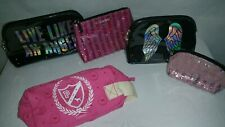 Victoria's Secret &  Pink Cosmetic makeup toiletry travel Bag Lot of 5