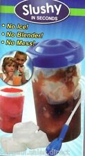 2 x SLUSHY IN SECOND INSTANT FROZEN DRINK SLUSH MAKER CUP