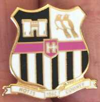NOTTS COUNTY OLD CREST ENAMEL PIN BADGE