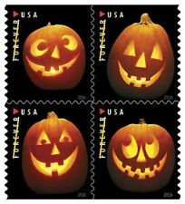 Jack-o'-Lanterns Pumpkins Usps Forever Postage Stamp Booklet 20 Halloween New