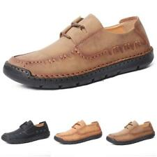 Mens Driving Moccasins Shoes Pumps Flats Outdoor Walking Sports Lace up Casual B