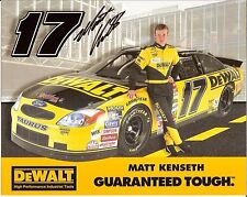 2000 MATT KENSETH signed NASCAR PHOTO CARD POSTCARD ROOKIE YR FORD ROUSH RACING