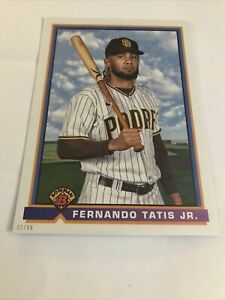 "2021 Bowman Fernando Tatis, Jr. ""1991 RETRO"" 5x7 JUMBO #91B-FT! SP #'d 42/49!"