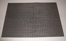 """Set of 7 PVC Black & Silver Woven Placemats Table Heat Insulation 18"""" x 13"""""""