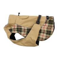 Doggie Design Alpine All-Weather Dog Coat - Beige Plaid Size XS-5XL