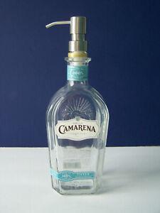 CAMARENA TEQUILA GLASS BOTTLE SOAP PUMP DISPENSER
