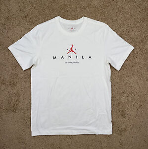 NEW Sz LG Men's Air Jordan Manila Shirt White Extremely Rare DA1726-100 Sample