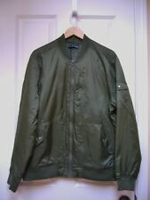 New Five Four Mens Timor Bomber Lined Jacket Olive Green Size Large